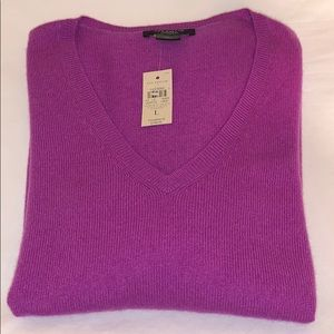 Ann Taylor NWT 100% Cashmere Large Purple Sweater
